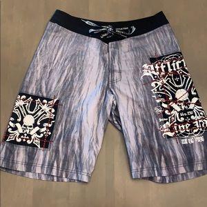 Affliction Board Shorts, Affliction Swim Trunks 30